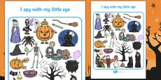 Halloween Themed I Spy With My Little Eye Activity Sheet