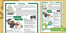 * NEW * KS1 Pirates Differentiated Fact File