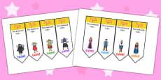 Sleeping Beauty Editable Bookmarks