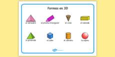 3D Shape Word Mat Spanish