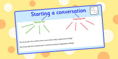 Starting A Conversation Mind Map