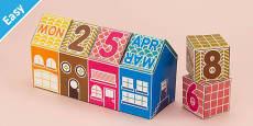 Enkl DIY Calendar Block House Printable