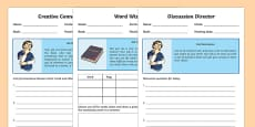 Literature Circle Student Roles Activity Sheets