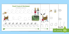 Hansel and Gretel Pencil Control Sheets