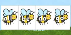 Tricky Words on Bees