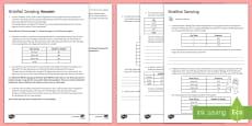 Stratified Sampling Activity Sheet