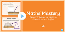 Year 6 Geometry Shape Draw 2D Shapes Maths Mastery Activities PowerPoint
