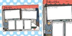 Australia - Babushka Book Review Writing Frame