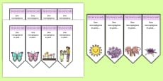 Mother's Day Editable Bookmarks Spanish
