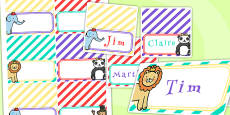Animal Themed Birthday Party Place Names