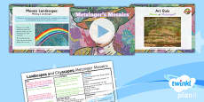 Art and Design: Landscapes and Cityscapes: Metzinger's Mosaics KS1 Lesson Pack 6