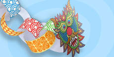 Chinese New Year Paper Chain Craft Dragon - Australia