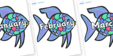 Months of the Year on Rainbow Fish to Support Teaching on The Rainbow Fish