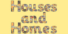 Houses and Homes Display Lettering