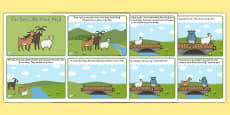 The Three Billy Goats Gruff Story Sequencing (4 per A4)