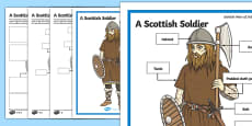 A Scottish Soldier Poster and Differentiated Activity Sheets
