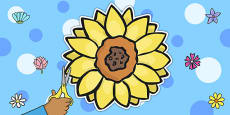 Sunflower Display Cut Out