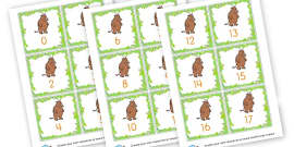 Gruffalo Number Cards to 50