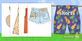 Summer Clothing Words on Pictures Display Bunting
