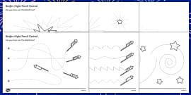 Bonfire Night Pencil Control Sheet