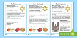 KS1 Rosh Hashanah  Differentiated Fact File