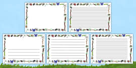 Minibeasts Full Page Borders (Landscape)
