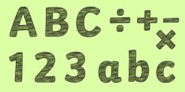 Camouflage Display Lettering