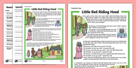 Little Red Riding Hood Traditional Tales Differentiated Reading Comprehension Activity