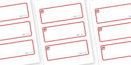 Dragon Themed Editable Drawer-Peg-Name Labels (Blank)