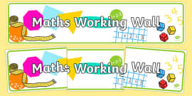 Maths Working Wall Display Banner