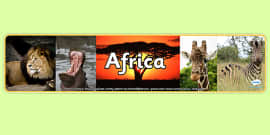 Africa Photo Display Banner