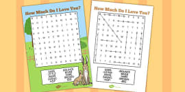 How Much Do I Love You?  Wordsearch