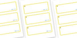 Star Themed Editable Drawer-Peg-Name Labels (Blank)