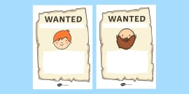 Jack and the Beanstalk Wanted Posters