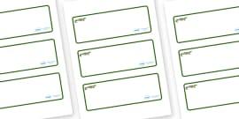 Crocodile Themed Editable Drawer-Peg-Name Labels (Blank)