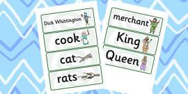 Dick Whittington Word Cards