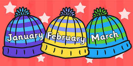 Months of the Year on Woolly Hats