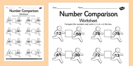 The Gingerbread Man Number Comparison Activity Sheet
