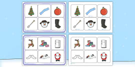 Matching Cards and Board to Support Teaching on The Snowman