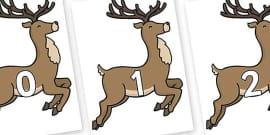 Numbers 0-31 on Reindeer