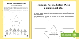 Reconciliation Week Commitment Activity Sheet