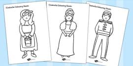 Cinderella Colouring Sheets