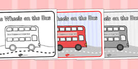 The Wheels on the Bus Sequencing (A4)