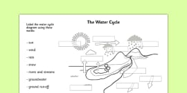 Water Cycle Labelling Activity Sheet