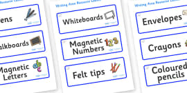 Polar Bear Themed Editable Writing Area Resource Labels