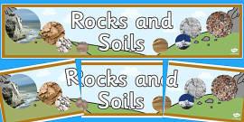 Rocks and Soils Display Banner