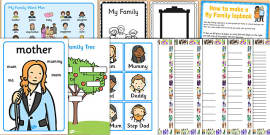 All About Me: My Family Resource Pack