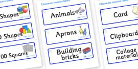 Unicorn Themed Editable Classroom Resource Labels