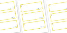 Angel Themed Editable Drawer-Peg-Name Labels (Blank)