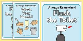 Bathroom Signs German good behaviour toilet signs - toilet area sign, classroom area